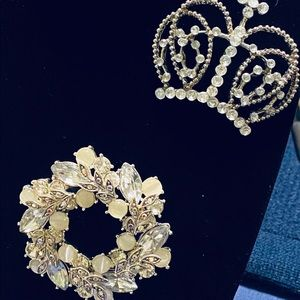 Classic broaches with intricate details
